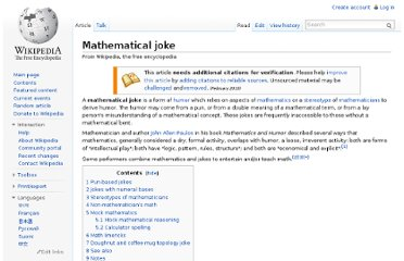 http://en.wikipedia.org/wiki/Mathematical_joke