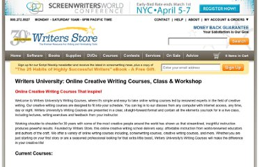 http://www.writersstore.com/writers-university/