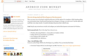 http://androidcodemonkey.blogspot.com/2010/01/how-to-setup-android-development_23.html