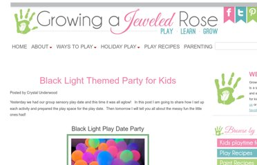 http://www.growingajeweledrose.com/2012/03/blacklight-themed-sensory-play-date-set.html