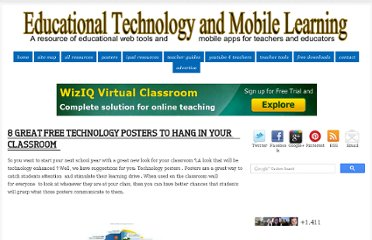 http://www.educatorstechnology.com/2012/08/8-great-free-technology-posters-to-hang.html#.UBtWhLC6Z1Q.facebook