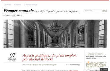 http://frappermonnaie.wordpress.com/2012/04/07/aspects-politiques-du-plein-emploi-par-michal-kalecki/