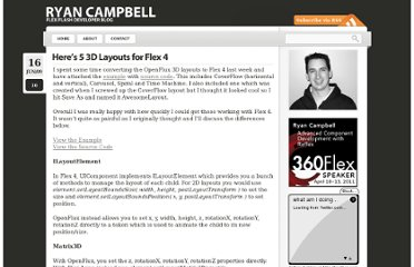http://www.ryancampbell.com/2009/06/16/heres-5-3d-layouts-for-flex-4/