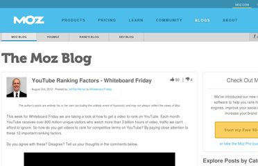 http://www.seomoz.org/blog/youtube-ranking-factors-whiteboard-friday