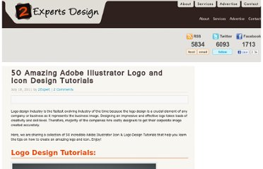 http://www.2expertsdesign.com/tutorials/50-amazing-adobe-illustrator-logo-and-icon-design-tutorials
