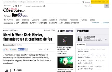 http://www.rue89.com/rue89-culture/2012/08/03/merci-le-web-chris-marker-flamants-roses-et-cracheurs-de-feu-234355
