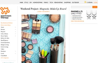http://www.apartmenttherapy.com/weekend-project-magnetic-makeup-board-175086