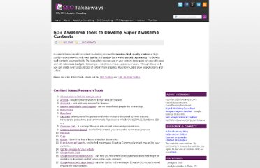 http://www.seotakeaways.com/60-awesome-tools-develop-super-awesome-contents/