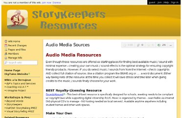 http://storykeepers.wikispaces.com/Audio+Media+Sources
