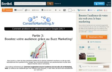http://fr.scribd.com/doc/9274/Booster-laudience-de-votre-site-web-avec-le-buzz-marketing