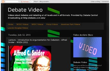http://debatevideoblog.blogspot.com/2011/07/lecture-introduction-to-argumentation.html