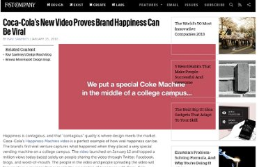 http://www.fastcompany.com/1526437/coca-colas-new-video-proves-brand-happiness-can-be-viral
