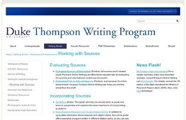 http://twp.duke.edu/writing-studio/resources/working-with-sources