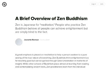 http://suite101.com/article/a-brief-overview-of-zen-buddhism-a72079