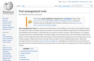 http://en.wikipedia.org/wiki/Test_management_tools