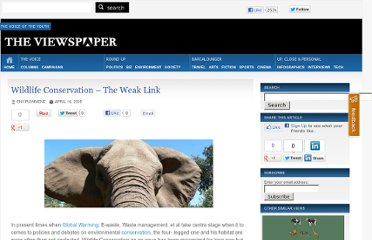 http://theviewspaper.net/wildlife-conservation-%e2%80%93-the-weak-link/