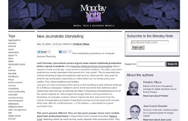 http://www.mondaynote.com/2009/05/10/new-journalistic-storytelling/
