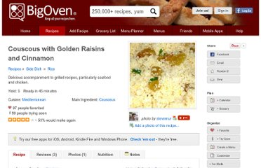 http://www.bigoven.com/recipe/163422/couscous-with-golden-raisins-and-cinnamon