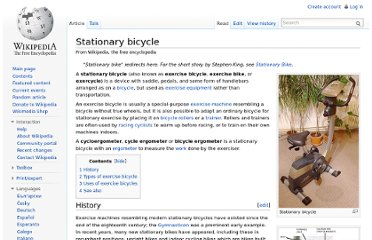 http://en.wikipedia.org/wiki/Stationary_bicycle