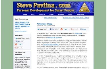 http://www.stevepavlina.com/blog/2005/10/polyphasic-sleep/