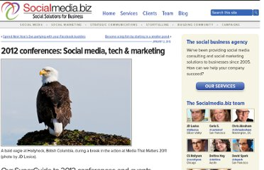 http://socialmedia.biz/2012/01/02/2012-conferences-social-media-tech-marketing/