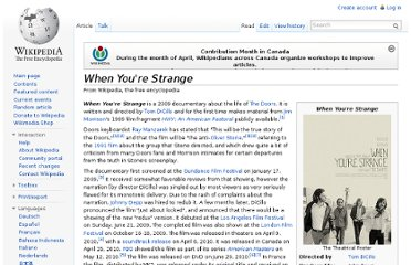 http://en.wikipedia.org/wiki/When_You%27re_Strange