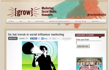 http://www.businessesgrow.com/2012/08/05/six-hot-trends-in-social-influence-marketing/