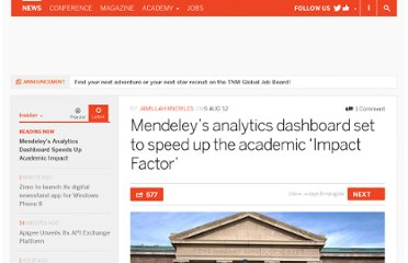 http://thenextweb.com/insider/2012/08/06/mendeleys-analytics-dashboard-set-to-speed-up-the-academic-impact-factor/