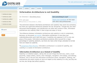 http://www.digital-web.com/articles/information_architecture_is_not_usability/
