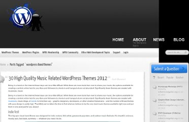 http://wpdojo.net/tag/wordpress-band-themes/