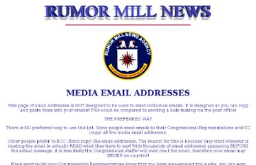 http://www.rumormillnews.com/MEDIA_EMAIL_ADDRESSES.htm
