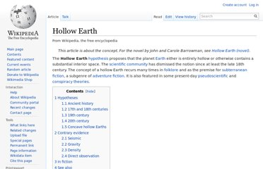 http://en.wikipedia.org/wiki/Hollow_Earth