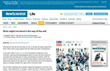 http://www.newscientist.com/article/dn22144-brain-might-not-stand-in-the-way-of-free-will.html