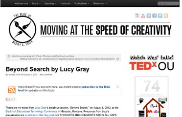 http://www.speedofcreativity.org/2012/08/06/beyond-search-by-lucy-gray-elemenous-blackfootetc/