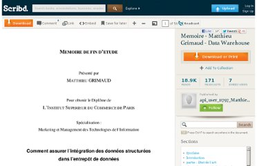 http://fr.scribd.com/doc/6964997/Memoire-Matthieu-Grimaud-Data-Warehouse