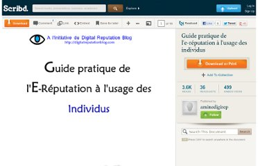 http://fr.scribd.com/doc/36785915/Guide-pratique-de-l-e-reputation-a-l-usage-des-individus