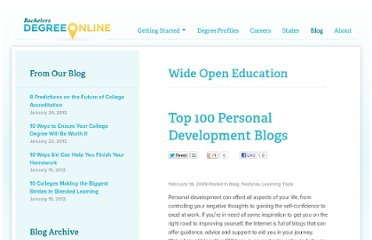 http://www.bachelorsdegreeonline.com/blog/2009/top-100-personal-development-blogs/#.UCCnmlx5mK0