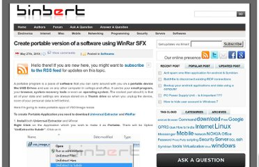 http://www.binbert.com/blog/2010/05/create-portable-version-of-a-software-using-winrar-sfx/