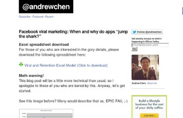 http://andrewchen.co/2008/03/05/facebook-viral-marketing-when-and-why-do-apps-jump-the-shark/