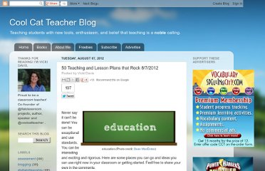 http://coolcatteacher.blogspot.com/2012/08/50-teaching-and-lesson-plans-that-rock.html