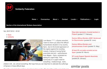 http://www.solfed.org.uk/?q=international/from-a-syrian-anarchist