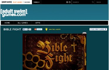 Free Online Game - Bible Fight from Adult Swim