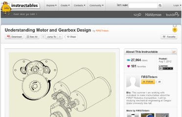 http://www.instructables.com/id/Understanding-Motor-and-Gearbox-Design/