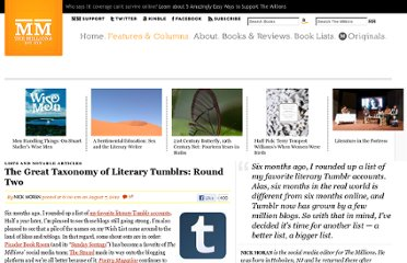 http://www.themillions.com/2012/08/the-great-taxonomy-of-literary-tumblrs-round-two.html