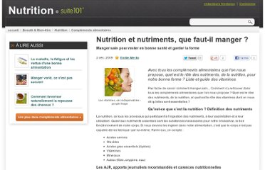 http://suite101.fr/article/nutrition-et-nutriments-que-fautil-manger-a3639#ixzz1V71oYn9l