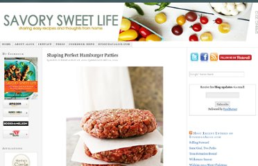 http://savorysweetlife.com/2010/05/shaping-perfect-hamburger-patties/