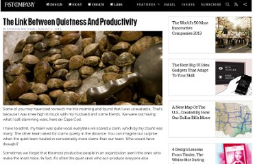 http://www.fastcompany.com/3000226/link-between-quietness-and-productivity