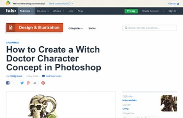 http://psd.tutsplus.com/tutorials/drawing/witch-doctor/