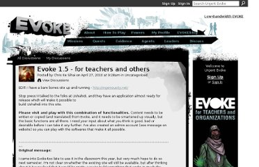 http://www.urgentevoke.com/forum/topics/evoke-15-for-teachers-and