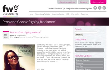 http://www.fwaccounting.com/inspiration/pros-and-cons-of-going-freelance/